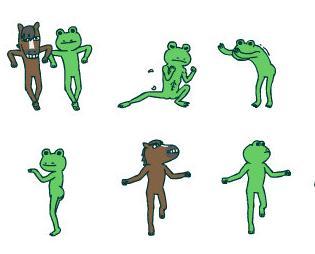 这只青蛙的表情包图片