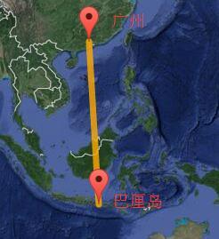 广州至巴厘岛