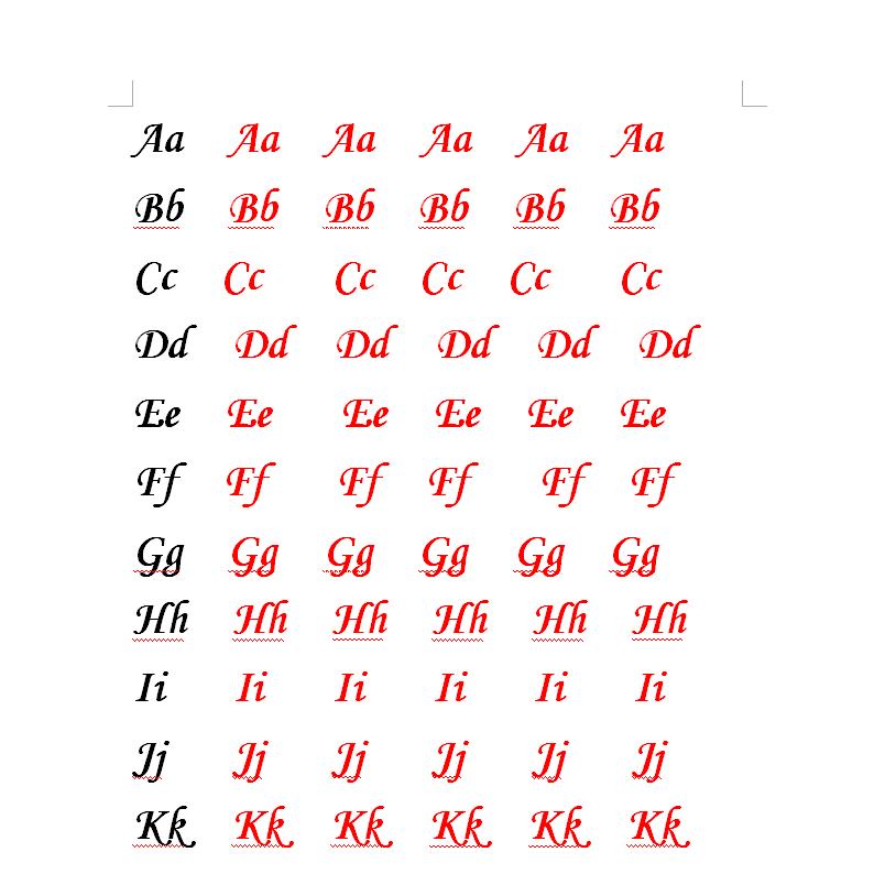 求英文二十六个字母大小写文体图图片