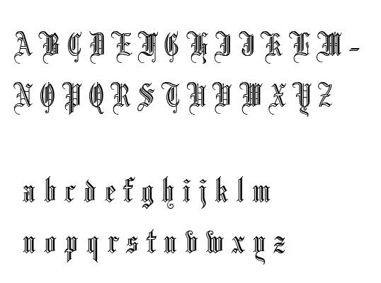 求哥特字体的英文26个字母 大小写图片