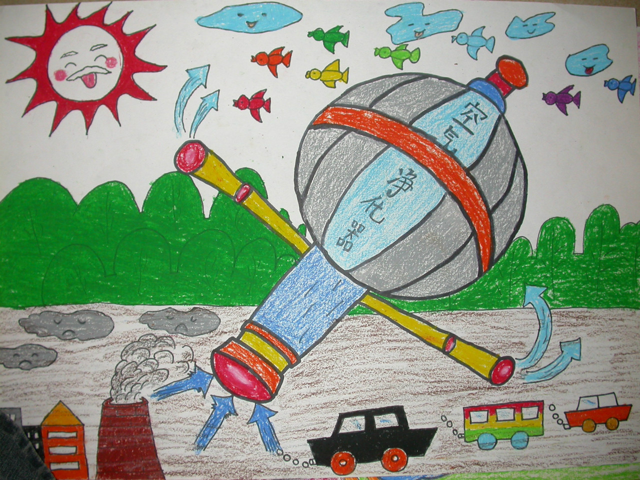 小学生简单科幻画图片