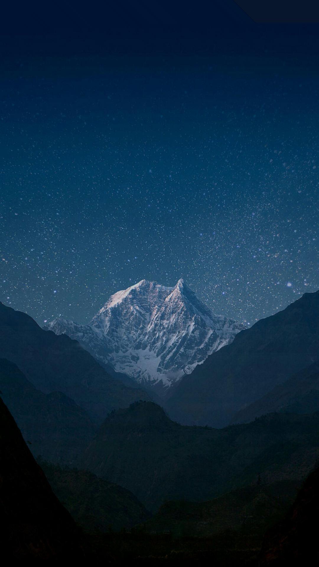求一个go桌面带的壁纸 星空雪山 如图所示 请大家帮忙图片