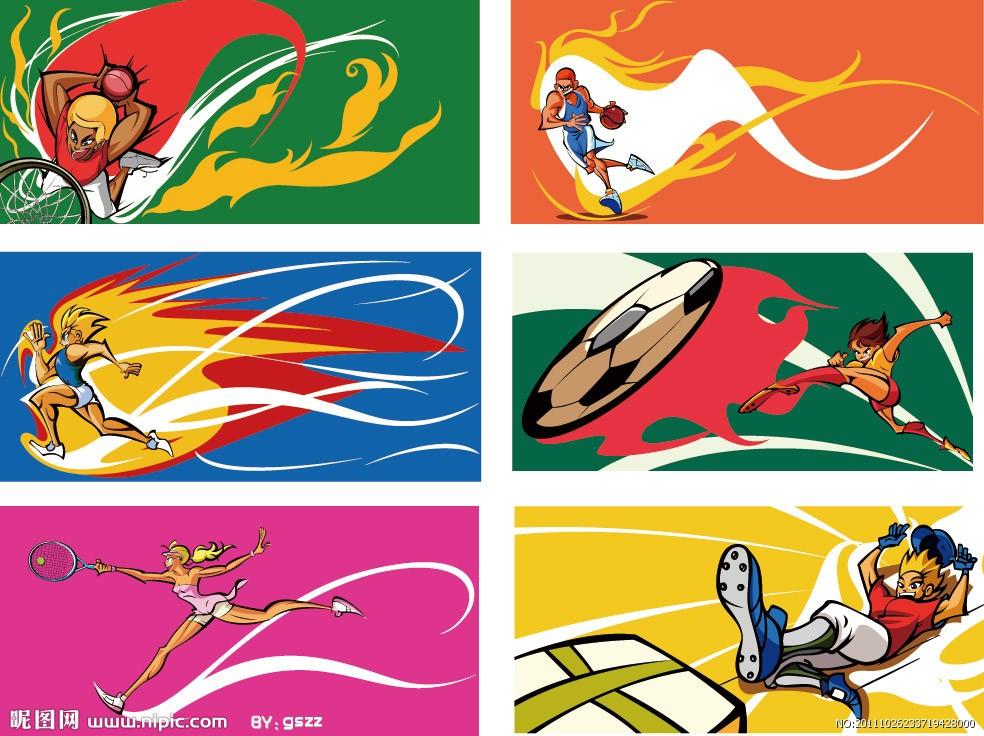 体育卡通_卡通儿童体育项目运动会壁纸160012003