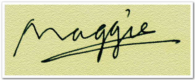 maggie 英文名字设计!图片