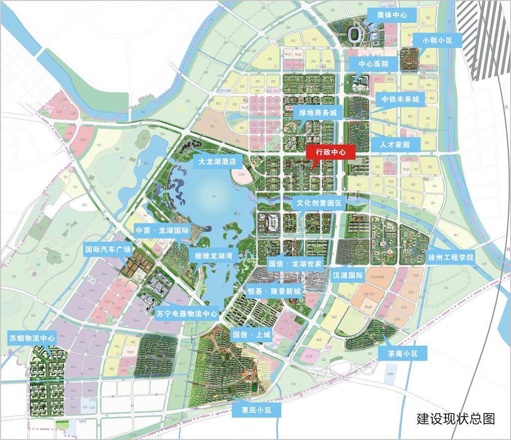 徐州新城区规划图 高清图片