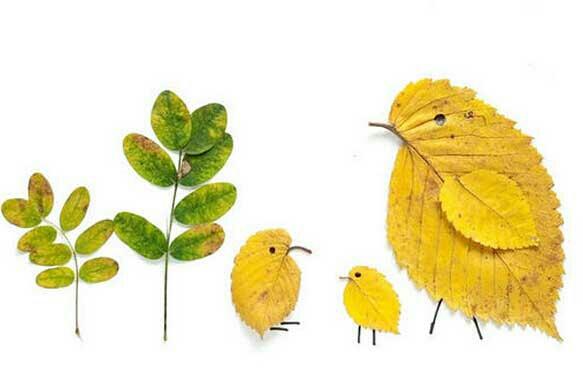 树叶粘贴画的图片图片