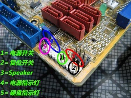 华硕m4a77tsi电脑主板机相连接线图_