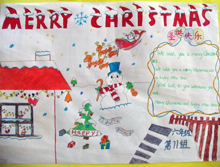 (430x328); 圣诞节和春节的手抄报_百度知道; 三年级春节英语小报图片