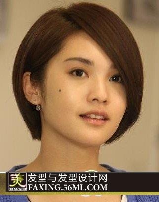 大脸宽额头的女生适不适合理杨丞琳的短发发型?