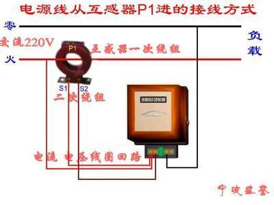 一个 单相电表 怎样 接 互感器图图片