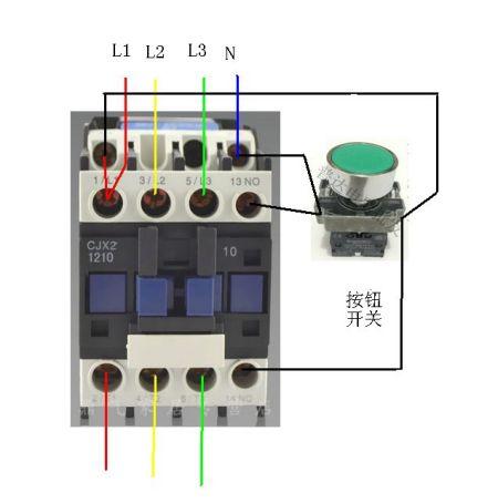 交流接触器接线实图 电压表接线实物图 交流接触器互锁加自锁 cjx2交图片
