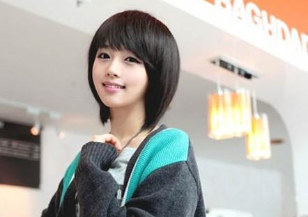 头发少圆脸适合什么短发发型图片图片