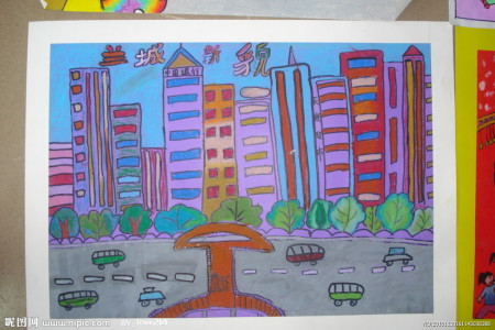 美术第二�Z.��X�_古田第二小学这周的美术作业 小区的景象怎么画 【附图】