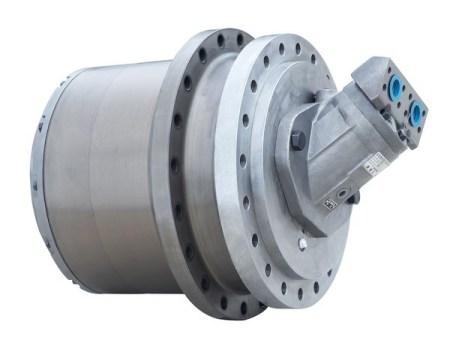 履带驱动装置是怎么个结构,驱动轮与液压马达怎么连接图片