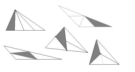 如图   我画的全是三角形的中线图片