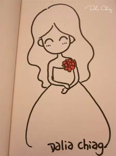 动漫少女漫画简笔画图片