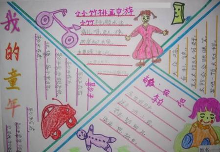 手抄报——我的童年我的梦