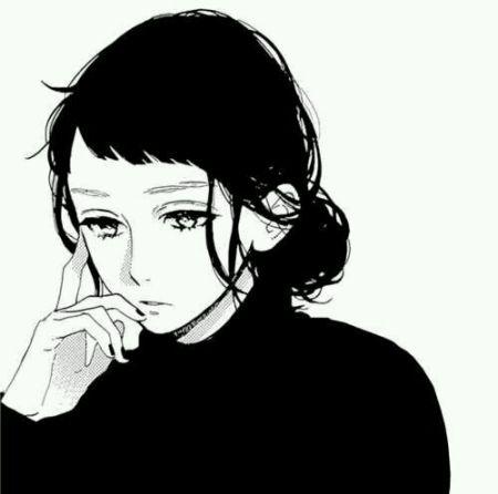 急求女生黑白动漫图片