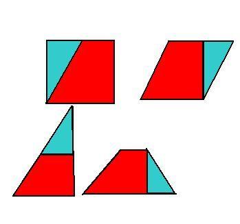 要求将剪开的两部分既能拼成直角三角形,平行四边形,还能拼成梯形的图图片