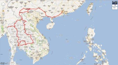 深圳到泰国自驾游地图图片