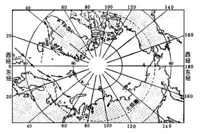 地球南北半球俯视图关于经度纬度的判断图片