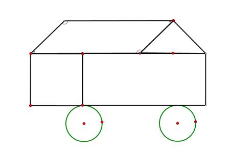 用长方形 正方形 圆形 三角形 平行四边形设计一个几何图形图片