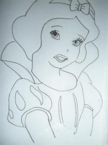 公主的头发怎么画图片图片