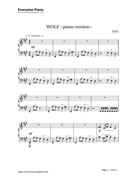 狼与美女简谱或钢琴谱