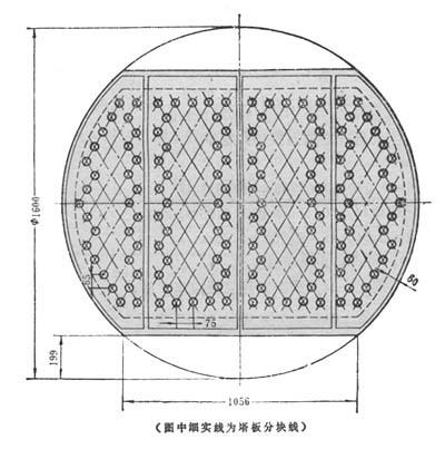浮阀塔开孔数用cad怎么作图啊?求指点!图片