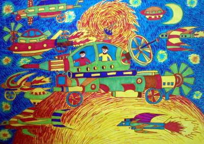 儿童画汽车,有创意的汽车图片