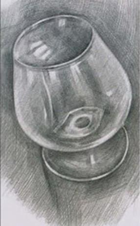 谁有 酒杯 的 素描 图图片