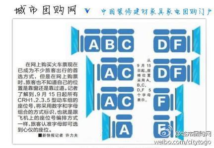 动车座位号分布图 动车二等座位分布图 动车一等座位分布图