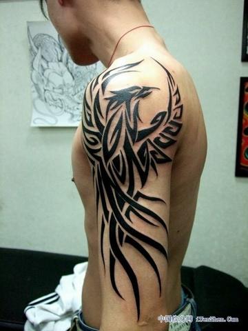 到专业的纹身店去看,应该有很多比这好看的图腾凤凰图片