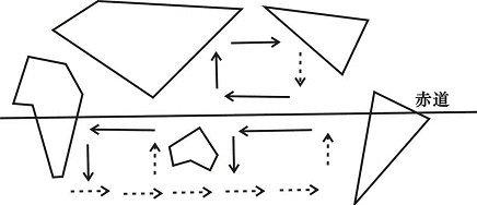 怎样画世界地图的简笔画 就是地理课老师快速画的那种 比如用三角形画