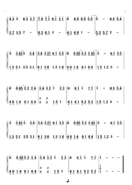 童话钢琴双手简谱 9 2010-05-22图片