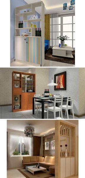 是创新的,既可以作为门厅玄关,鞋柜,又是酒柜,装饰柜隔断,同时又是图片
