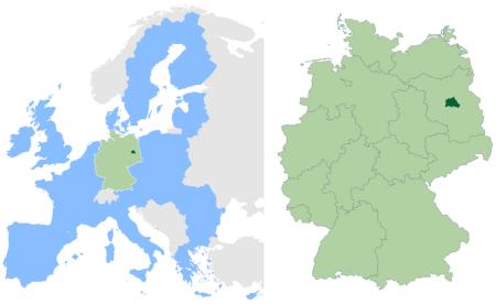 柏林分别在欧洲 和在德国的位置图片