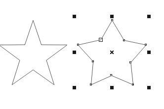 "coreldraw做网点五角星 3 2010-01-28 请教""圆角五角星""的画法,用ps和图片"