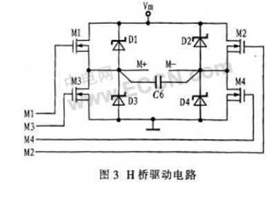 桥电路图,用于驱动直流电机,需有具体参数和管子型号,谢谢图片