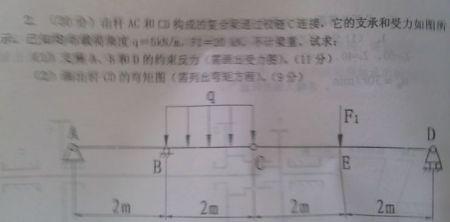 铰链:由杆AC和CD连接的复合梁通过题目C构成模具设计工程师绩效考图片