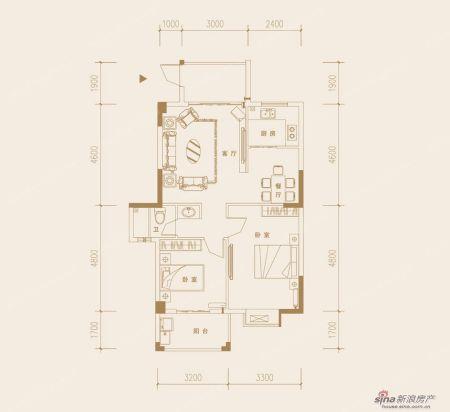 这是开发商给的户型图,我想改成一个小三房带两个厕所,求装修设计图图片