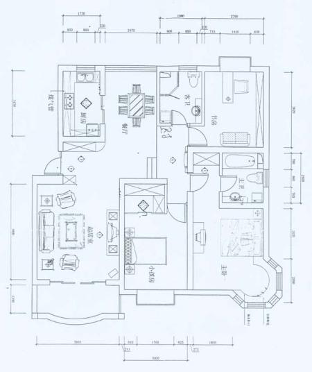 问下这个房子设计图上用什么软件画出来的图片