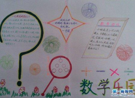 谁可以给我一张又漂亮又简单的关于数学知识的手抄报.
