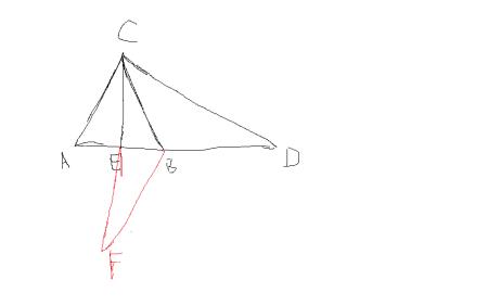 ce cb分别是三角形abc 三角形adc的中线 且ab=ac,求证:cd=2ce图片