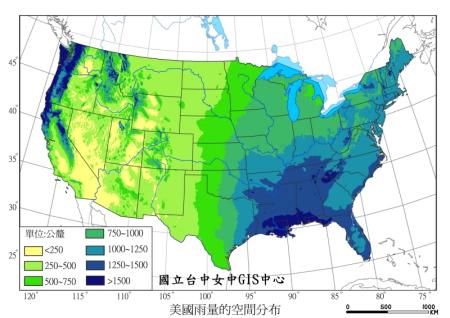 美国南部主要哹n_美国西海岸南部受副热带高气压带,气流下沉,降水少,年降水量小于250