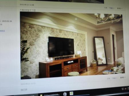 线条电视背景墙,用木线条还是石膏线条好?谢谢!图片