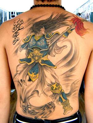 求赵云的半甲纹身图图片