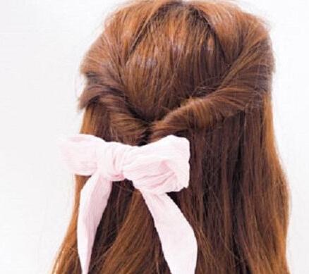 如何扎头发简单好看图解图片