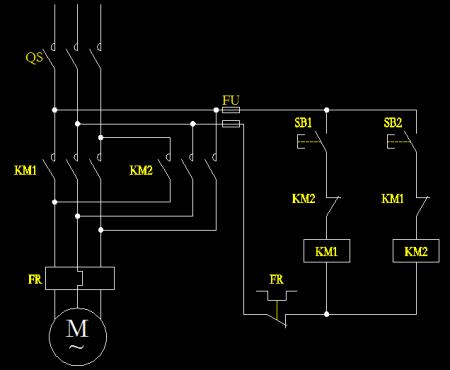 电动机点动正反转的接线图图片