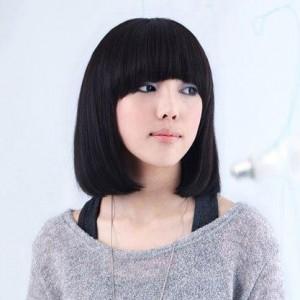 大圆脸女生剪什么短发好?不烫不染12岁图片